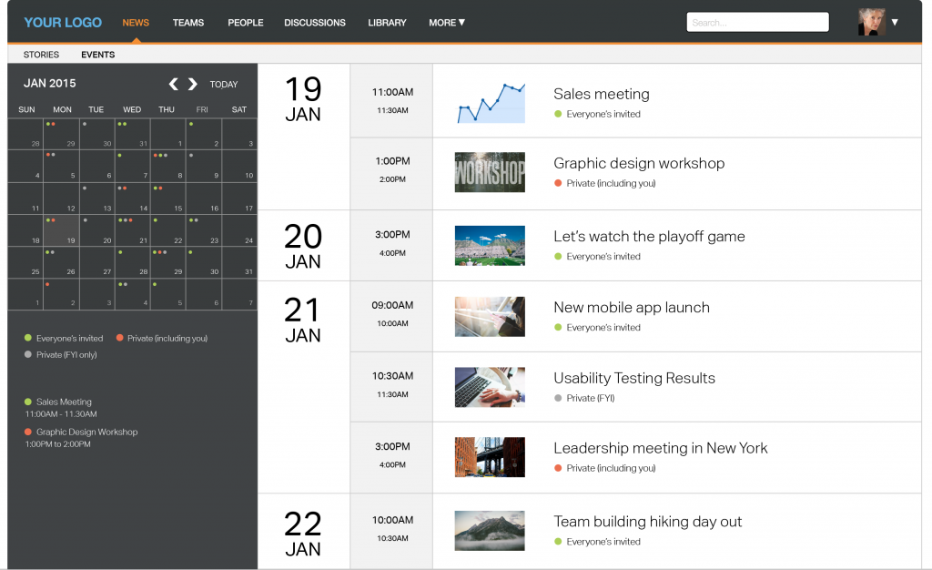 Jostle's SaaS intranet now solves enterprise event scheduling and communication