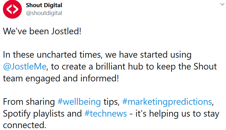 Shout Digital loves Jostle-1