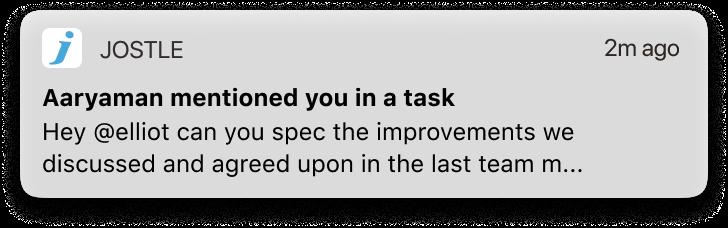 Tasks iOS notification