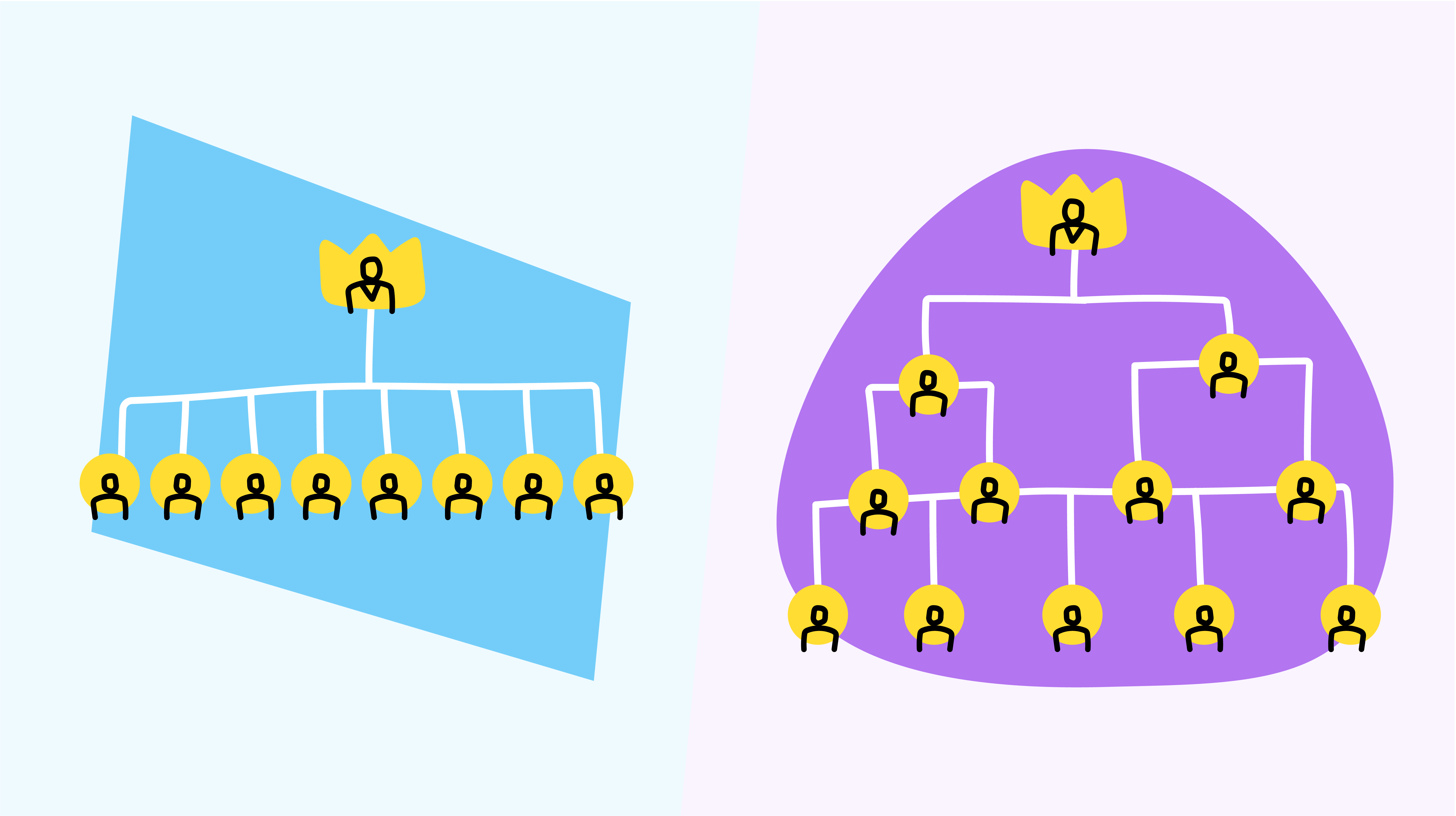 Hierarchical VS flat organizational structures in the workplace
