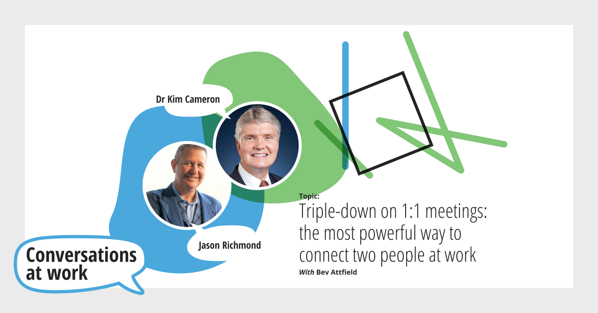 Triple-down on 1:1 meetings: the most powerful way to connect two people at work